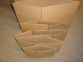 Cardboard boxes with flaps