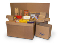 Boxes from corrugated cardboard